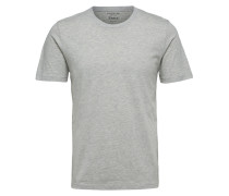 Rundhalsausschnitt-T-Shirt hellgrau