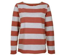 Sweatshirt grau / pastellrot