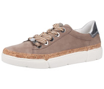 Sneaker taupe / silber
