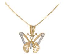 Halskette »Schmetterling« in Venzianerkettengliederung mit Diamant