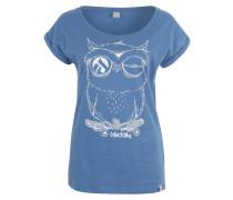 T-Shirt 'Skateowl 2' himmelblau