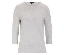 graues Sweatshirt Ansteckblüte grau