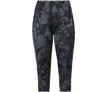 Sport Leggings grau / schwarz