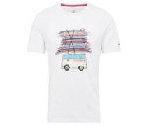 Shirt 'dust' mischfarben / weiß