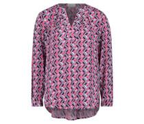 Blusenshirt rauchblau / pink