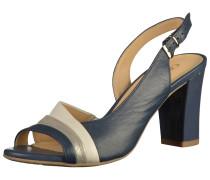 Sandalen blau / silber / weiß