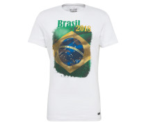 T-Shirt gelb / grün / weiß
