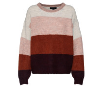 Pullover grau / rosa / rot