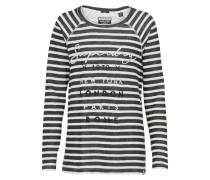 Pullover 'applique' nachtblau / weiß