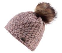 Mütze 'Aurelie Lux' altrosa / hellbraun