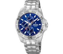 Uhr 'f20445/2' blau / silber