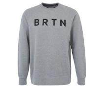 Sweatshirt 'Crew' graumeliert / schwarz
