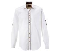 Trachtenhemd im Landhausstil weiß