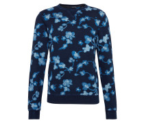 Pullover 'Ams Blauw allover print indigo sweat'