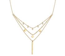 Halskette 'Geo Layer' gold
