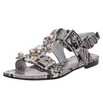 Sandalen 'Elle' grau / silber