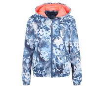 Trainingsjacke blau / koralle / weiß