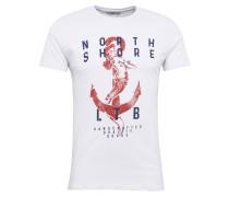T-Shirt 'piyewe T/s' marine / rot / weiß