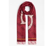 Schal mischfarben / rot