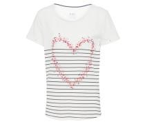 T-Shirt 'valentine' offwhite