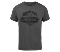 T-Shirt 'Cimo' grau / schwarz