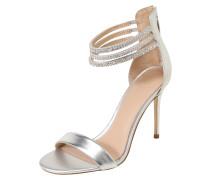 Sandalette 'kathy' beige / silber