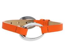 Armband 'Ovality Caribian' orange / silber