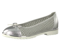 Klassische Ballerinas grau / silber