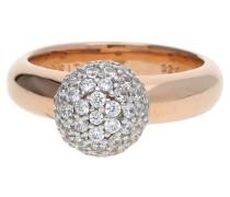 Fingerring Sphere Esrg92309B gold / weiß