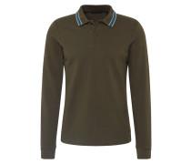 Shirt 'Longsleeve pique polo' khaki