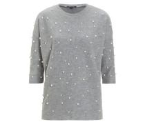 Sweatshirt Perlen grau