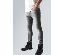Jeans 'Slim Fit Biker' dunkelblau