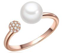 Ring rosegold / perlweiß