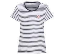 Tshirt 'striped Top' dunkelblau