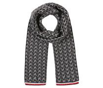 Schal 'monogram Knit Scarf' grau