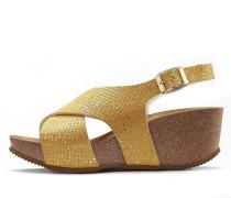 Sandalette goldgelb
