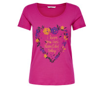 T-Shirt blau / gelb / pink