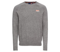 Pullover 'orange Label Cotton Crew' grau