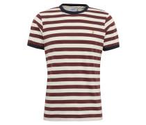 T-Shirt 'belgrove' creme / weinrot