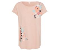 T-Shirt hellblau / altrosa / dunkelrot