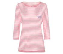 Shirt 'CarlaL' pink / weiß