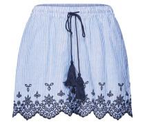 Shorts 'tammy' blau / kobaltblau / weiß