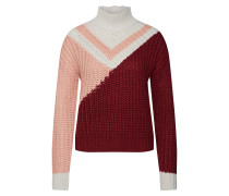 Pullover rosa / weinrot