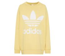 Sweatshirt gelb / weiß