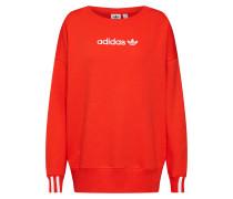 Sweatshirt orangerot / weiß