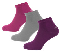 Socken grau / lila