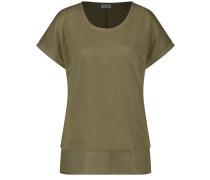 T-Shirt 1/2 Arm Shirt mit Saumbesatz