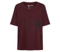 T-Shirt 'chimney cr' weinrot