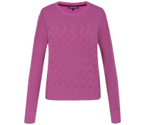 Pullover 'esana Cable Swtr' pink