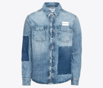 Jeanshemd 'patched Utility Shirt'
